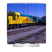 Two Trains Shower Curtain