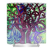 Two Trees Twining Shower Curtain