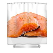 Two Trout Fillets Shower Curtain
