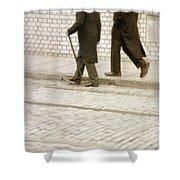 Two Victorian Men Walking Shower Curtain