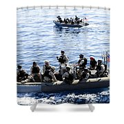 Two Visit, Board, Search And Seizure Shower Curtain