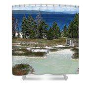 Two Waters Shower Curtain