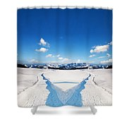 Two Ways Choice In Winter Shower Curtain