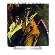 Two Women On The Street Shower Curtain