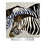 Two Zebras Shower Curtain