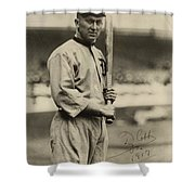 Ty Cobb  Poster Shower Curtain