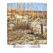 Tybee Island Dunes Shower Curtain