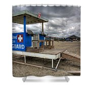 Tybee Island Lifeguard Stand Shower Curtain by Peter Tellone
