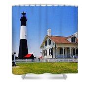 Tybee Island Light Shower Curtain