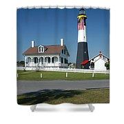 Tybee Island Lighthouse Ga Shower Curtain
