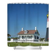 Tybee Island Lighthouse Georgia Shower Curtain