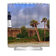 Tybee Island Lighthouse Shower Curtain