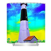 Tybee Island Lighthouse - Photopower Shower Curtain