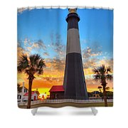 Tybee Island Sunrise Shower Curtain