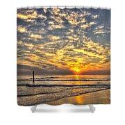Calm Seas And A Tybee Island Sunrise Shower Curtain
