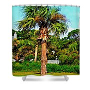 Tybee Palm Shower Curtain