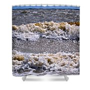 Tybee Waves Shower Curtain