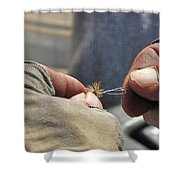 Tying Flies For Snake River Cutthroat Trout Shower Curtain
