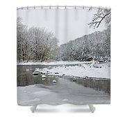 Tyler Park In Winter Shower Curtain
