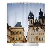 Tyn Church In Prague Shower Curtain