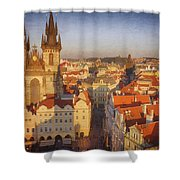 Tyn Church Old Town Square Shower Curtain