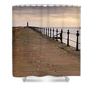 Tynemouth North Pier Shower Curtain
