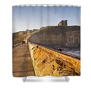 Tynemouth Priory And Castle From North Pier Shower Curtain