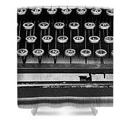 Typewriter Triptych Part 2 Shower Curtain