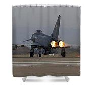 Typhoon Launch Shower Curtain