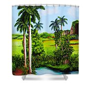 Typical Country Cuban Landscape Shower Curtain