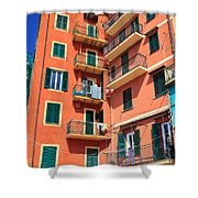Typical Ligurian Homes Shower Curtain
