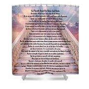 Typography Art Desiderata Poem On Stairway To Heaven Shower Curtain