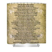 Typography Art Desiderata Poem On Watercolor Shower Curtain