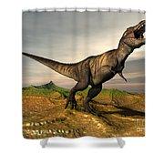 Tyrannosaurus Rex Dinosaur Walking Shower Curtain
