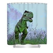 Tyrannosaurus Rex  T- Rex Shower Curtain