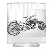 Long Mo'sickle Shower Curtain