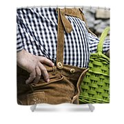 Tyrolean Man Shower Curtain