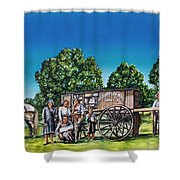 U. G. Earp And Family Shower Curtain