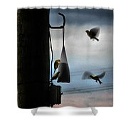 U R Cleared For Landing On Runway 5 Shower Curtain