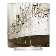 U. S. Army Transport Logan San Francisco California  1898 Shower Curtain
