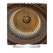 U S Capitol Rotunda Shower Curtain by Steve Gadomski