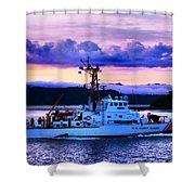 U S Coast Guard Cutter Shower Curtain