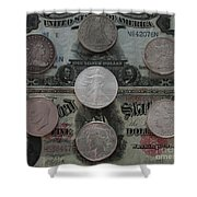 U S History Of Silver Dollars Shower Curtain