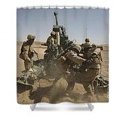 U. S. Marines Ram A Satellite-guided Shower Curtain