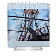 An Aspect Of The U S S Constellation, Baltimore Shower Curtain