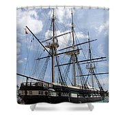 U S S  Constellation Shower Curtain