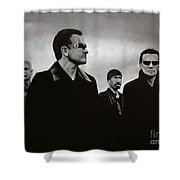 U2 Shower Curtain