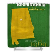 Uab University Of Alabama At Birmingham Blazers College Town State Map Poster Series No 009  Shower Curtain