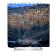 Ubehebe Crater Twilight Death Valley National Park Shower Curtain