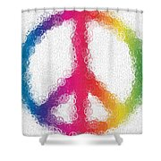 Uber Peace Shower Curtain